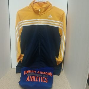 Lot of 2 Youth XL Adidas and Under Armour